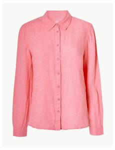 M&S Collection Pure Linen Button Detailed Shirt