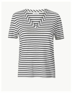M&S Collection Striped Straight Fit T-Shirt