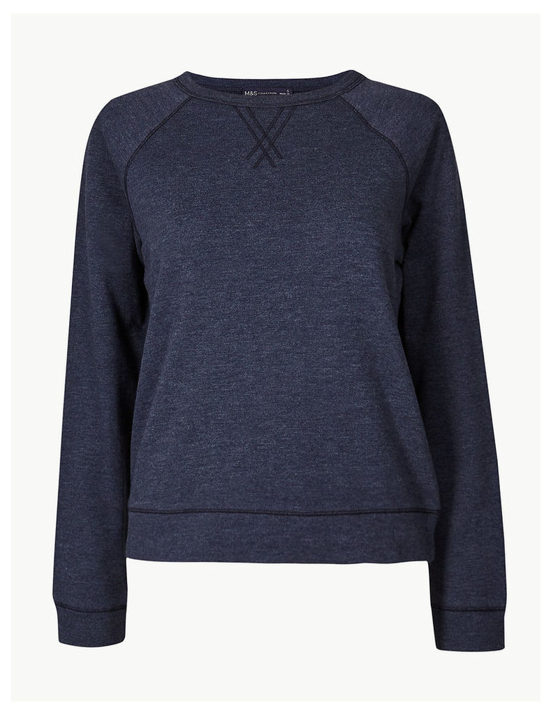 M&S Collection Round Neck Long Sleeve Sweatshirt