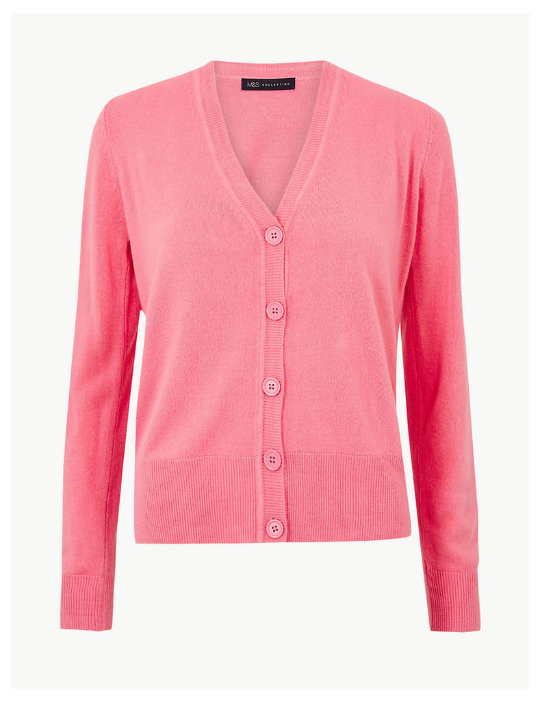 M&S Collection Textured Button Detailed Cardigan