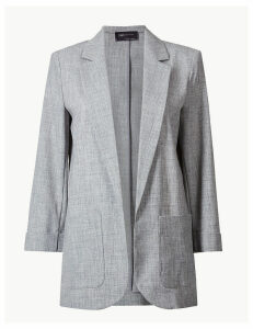 M&S Collection Textured Open Front Blazer