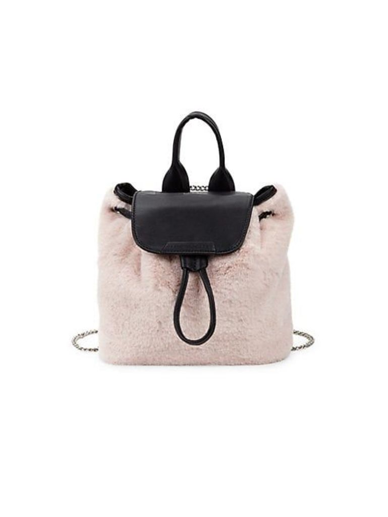 Small Faux-Fur Backpack