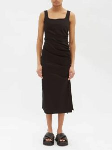 Acne Studios - Crystal Brooch Single Breasted Twill Blazer - Womens - Black