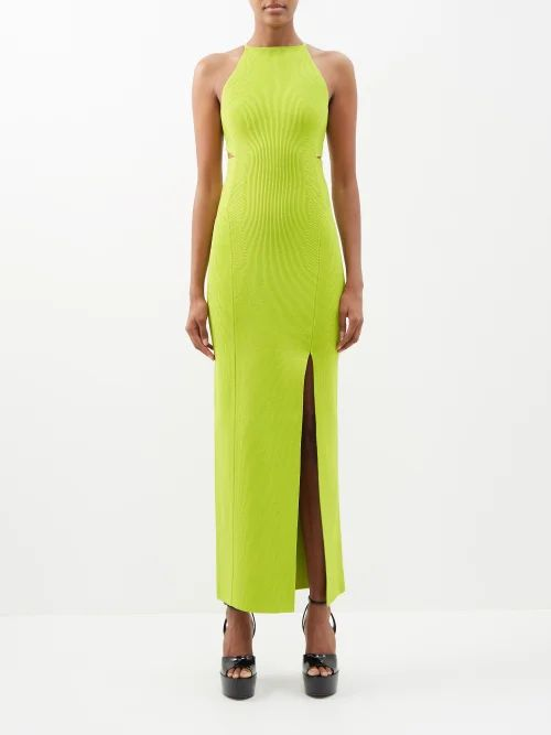 Burberry - Puff Sleeve Oversized Gingham Cotton Shirt - Womens - Green White