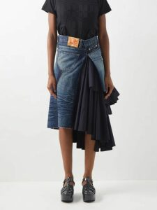 Burberry - Society Scarf Tie Waist Single Breasted Wool Coat - Womens - Brown Multi