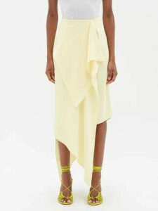 Roksanda - Alvena Asymmetric Crinkled Cotton Maxi Dress - Womens - Coral