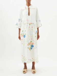 Bottega Veneta - Reversible Long Shearling Coat - Womens - Khaki