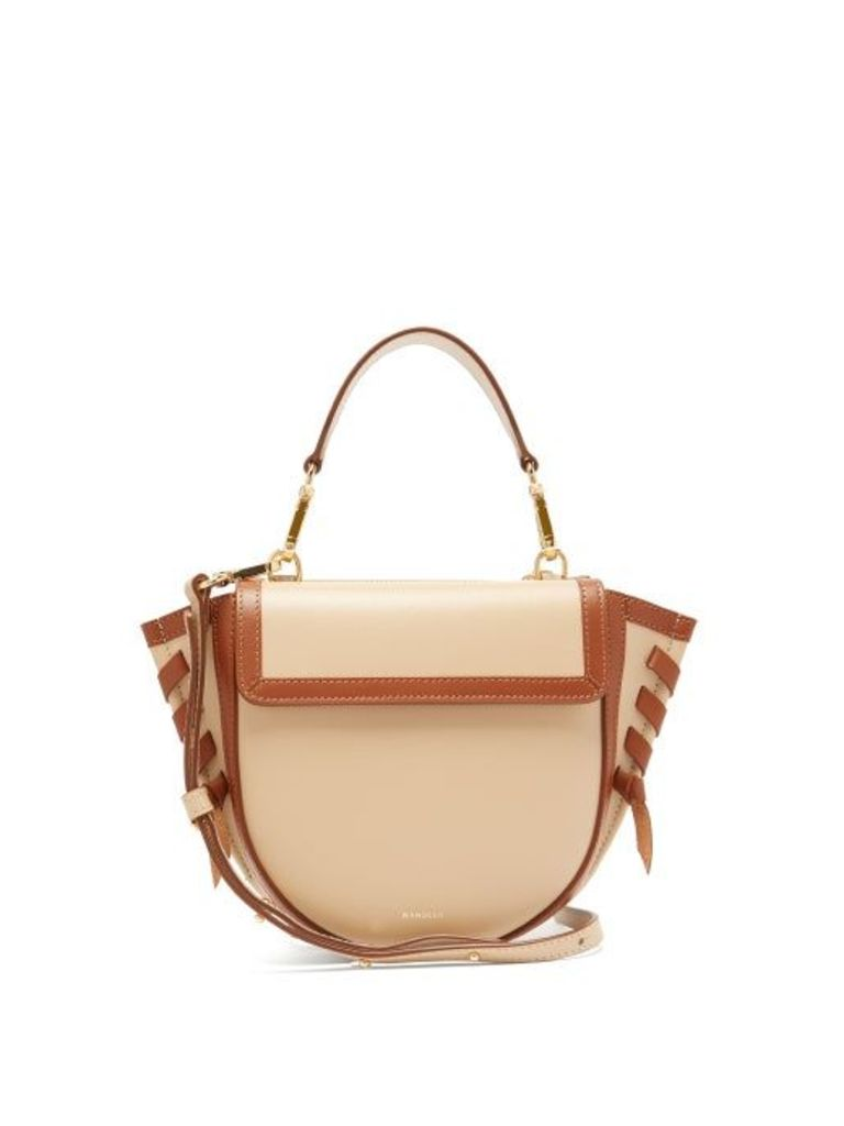Wandler - Hortensia Mini Leather Cross Body Bag - Womens - Beige Multi