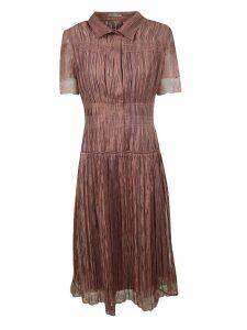 Bottega Veneta Lace Trim Shirt Dress