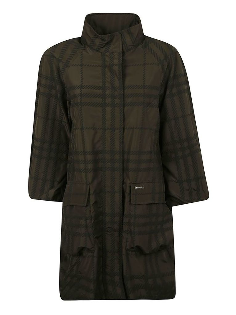 Woolrich Plaid Checked Coat