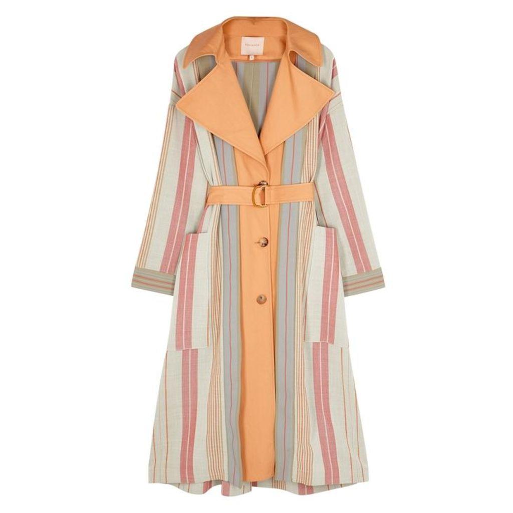 Roksanda Lennix Striped Cotton-blend Coat