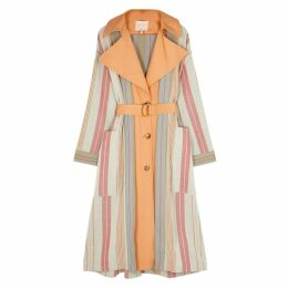 Roksanda Lennix Striped Cotton-blend Coat