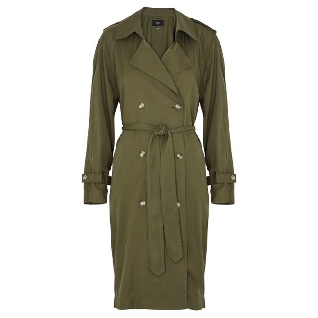 LINE Mariposa Olive Trench Coat