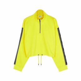 Kenzo Yellow Logo Neoprene Sweatshirt