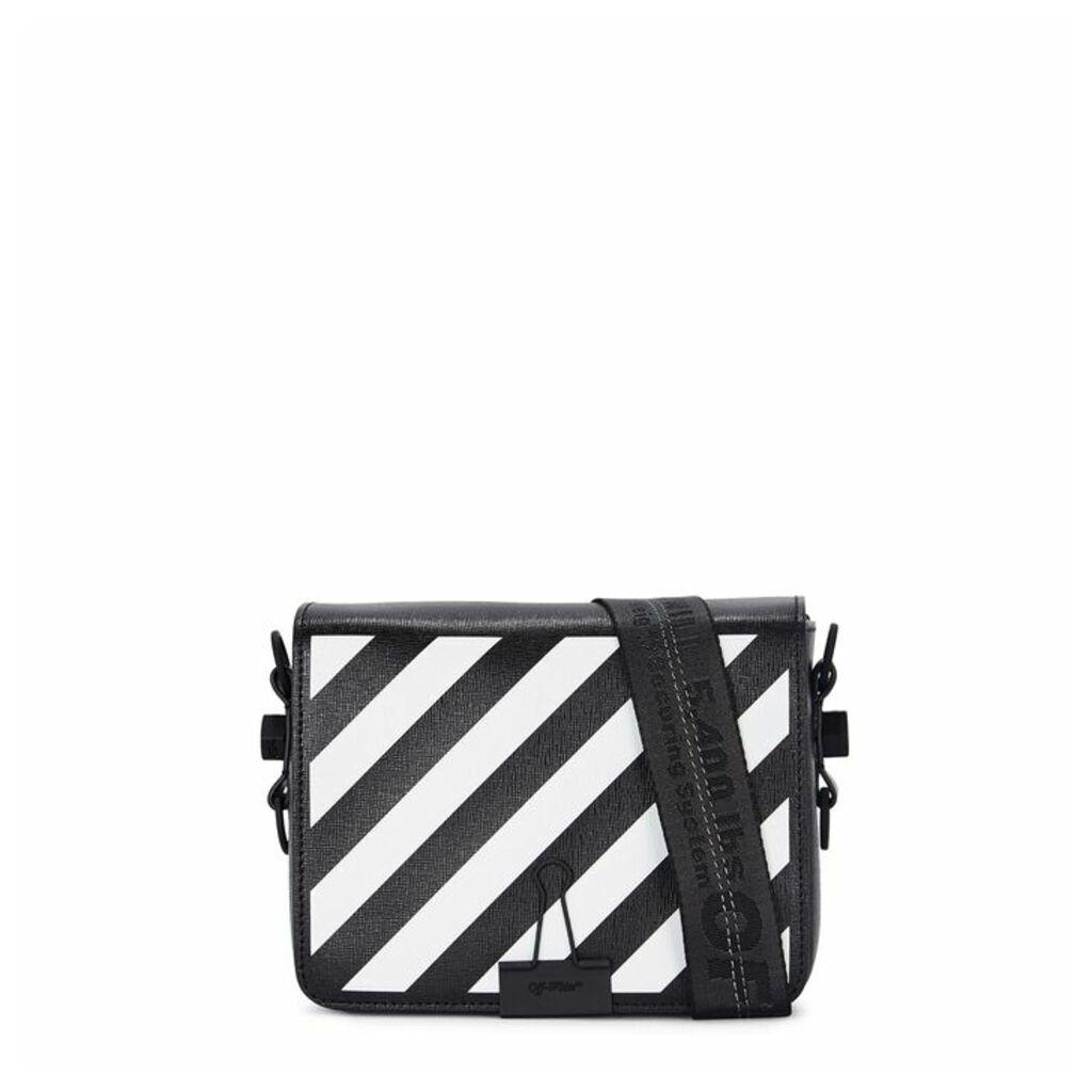 Off-White Diag Black Leather Shoulder Bag