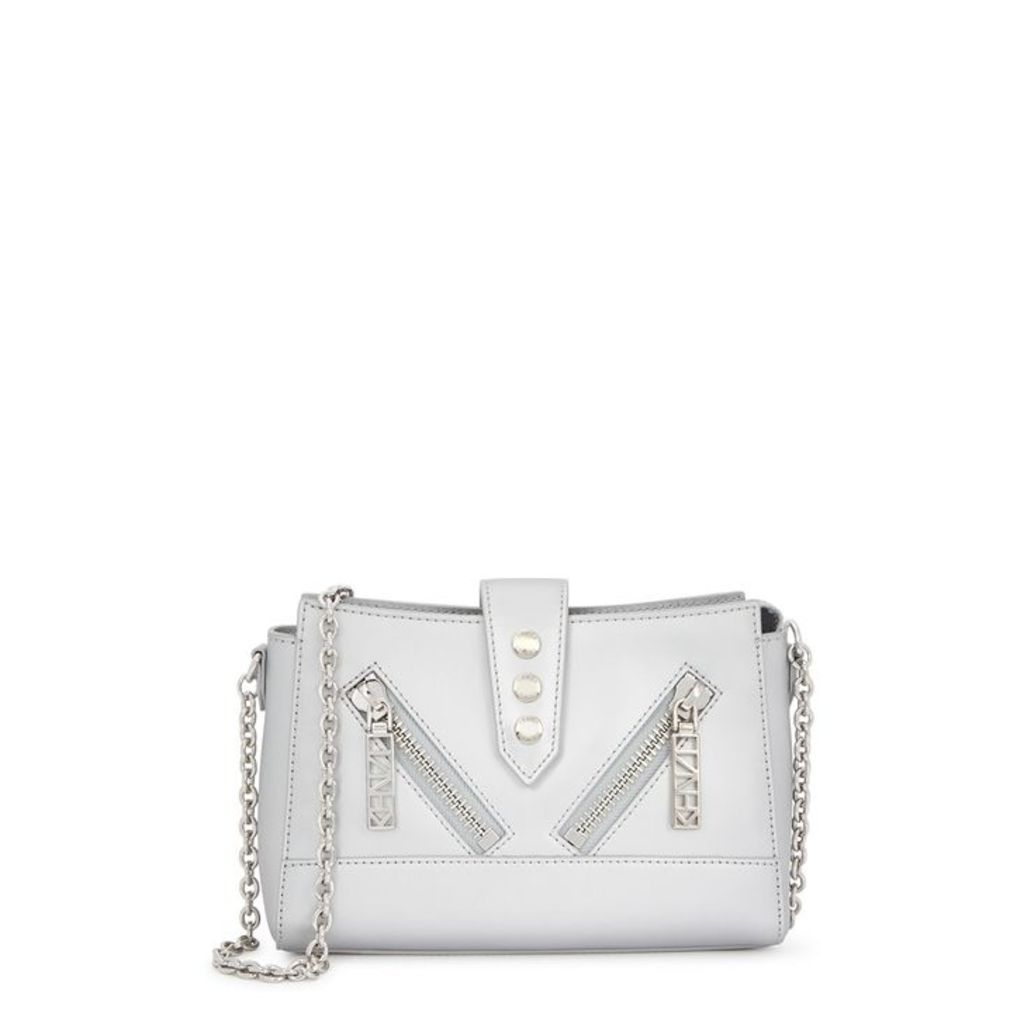Kenzo Kalifornia Silver Leather Cross-body Bag