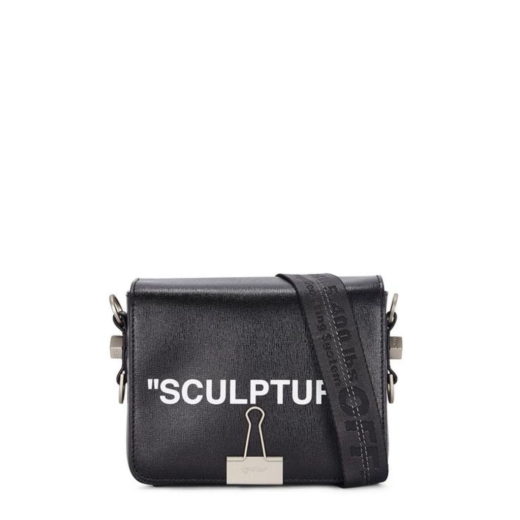 Off-White Sculpture Black Leather Shoulder Bag