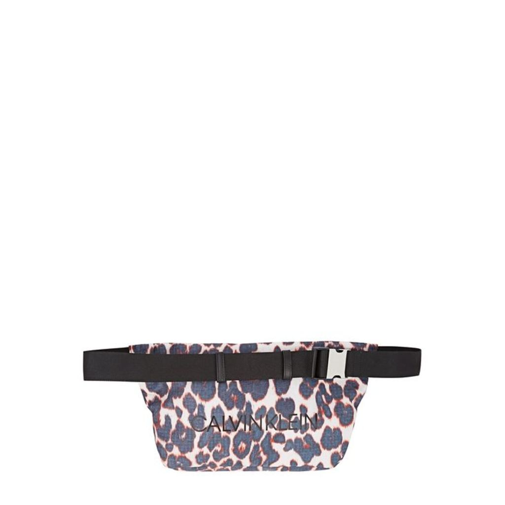 Calvin Klein 205W39NYC Leopard-print Nylon Belt Bag