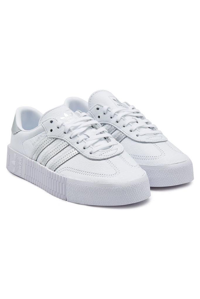 Adidas Originals Sambarose Leather Platform Sneakers