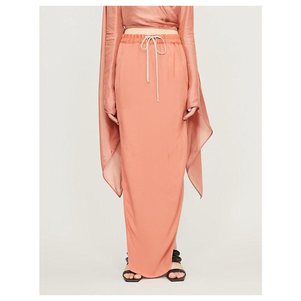 Side-split shell maxi skirt