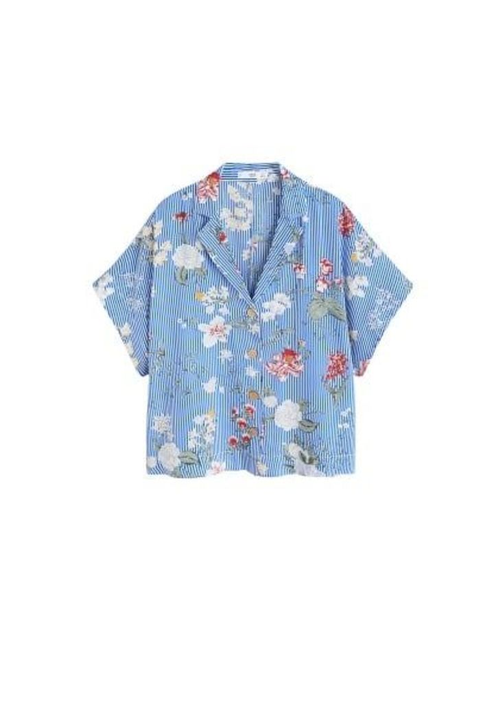 Printed crop shirt