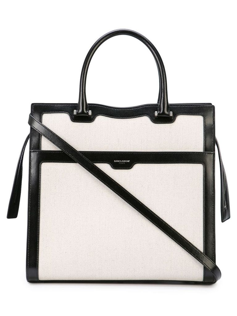 Saint Laurent two-tone tote - White