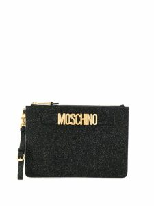 Moschino glittered clutch - Black