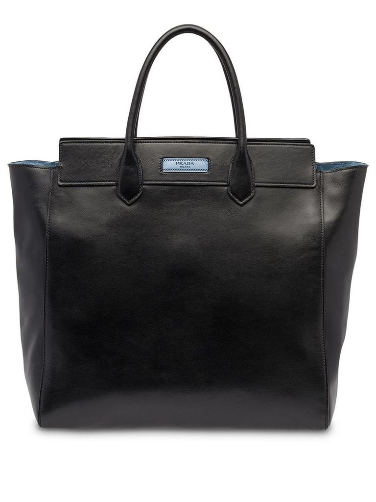 Prada logo tote bag - Black