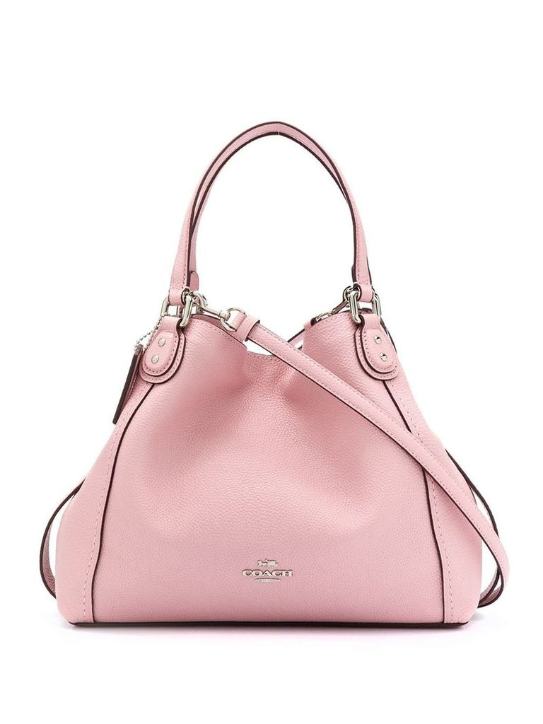 Coach logo plaque crossbody bag - Pink