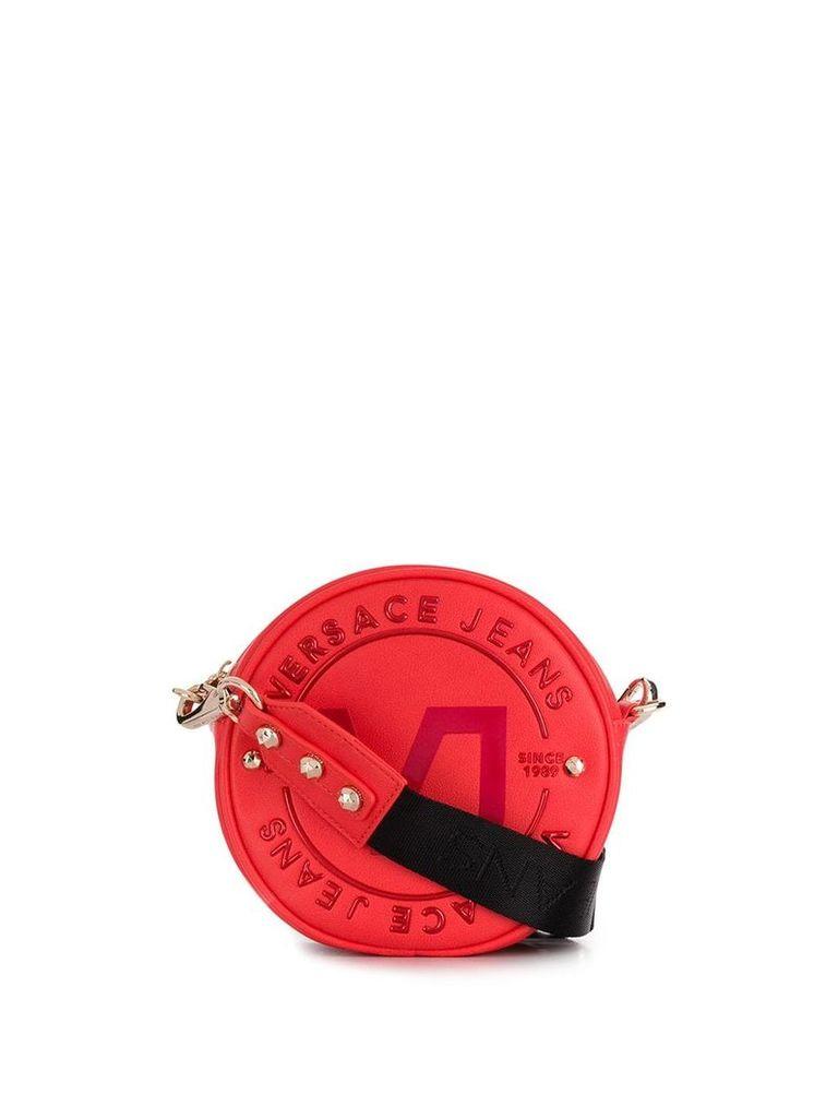 Versace Jeans round shoulder bag - Red