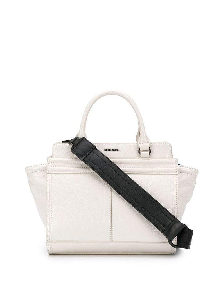 Diesel Le-Zipper tote bag - White