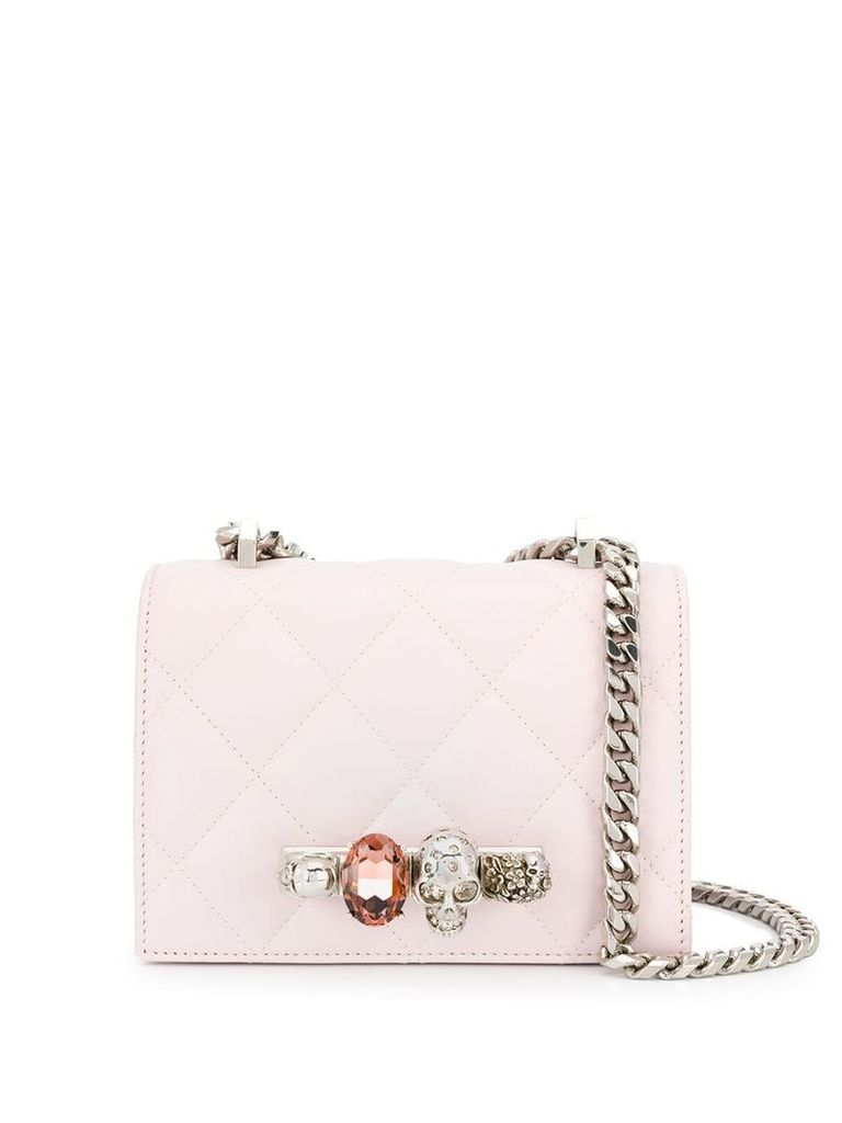 Alexander McQueen Jewelled shoulder bag - Pink