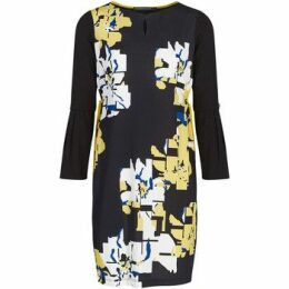 Mado Et Les Autres  Floral print knit dress  women's Dress in Black