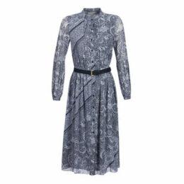 MICHAEL Michael Kors  ORNATE PAISLY SLIP DR  women's Long Dress in Blue
