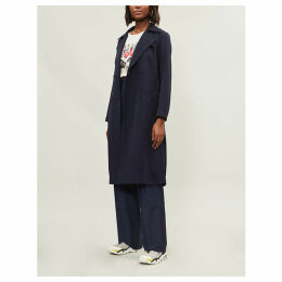 Longline woven trench coat