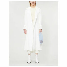 Anura linen trench coat