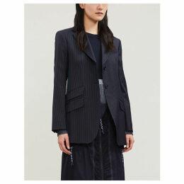 Hidalgo pinstriped single-breasted wool-blend blazer