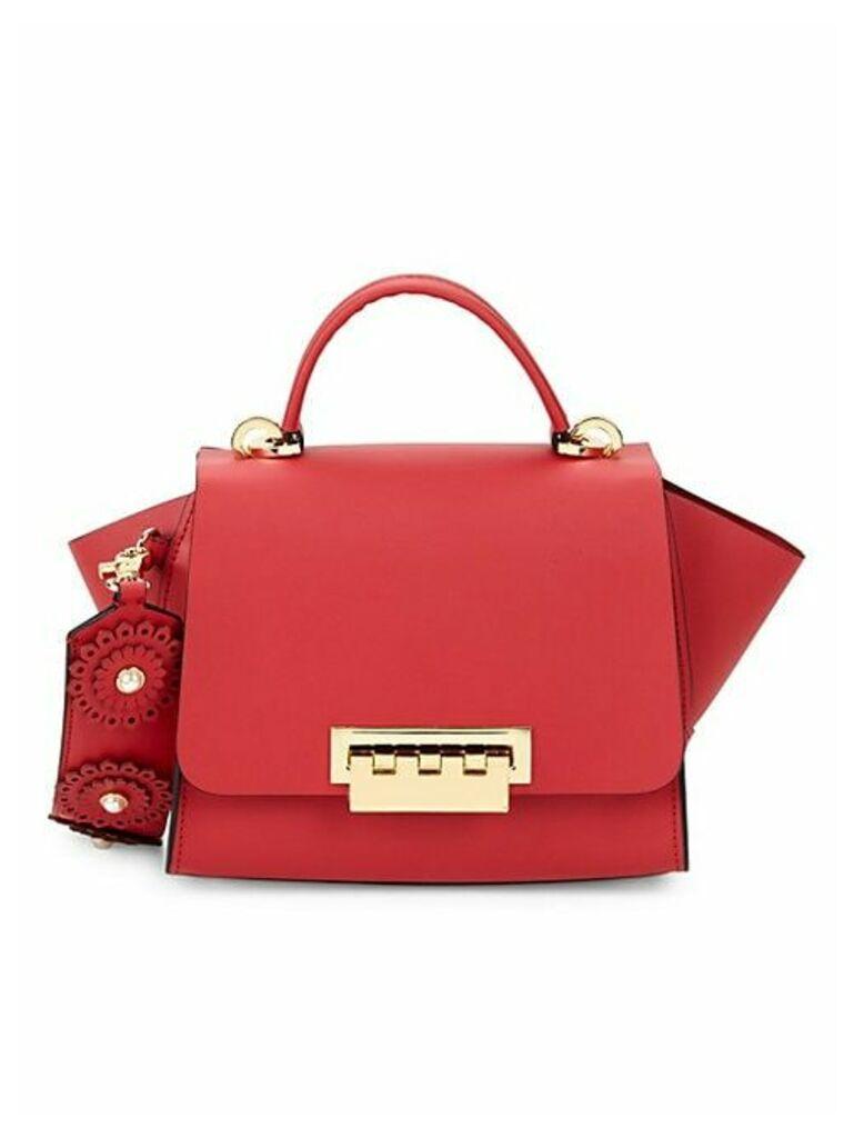 Eartha Leather & Faux-Pearl Handbag