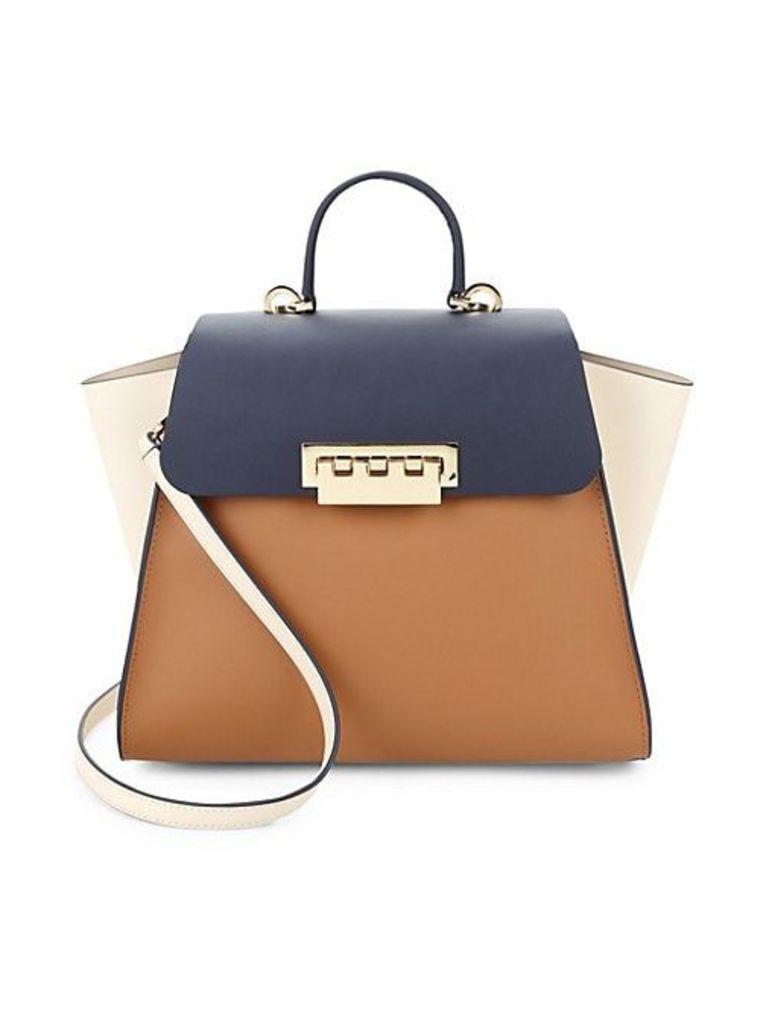 Eartha Foldover Top Leather Handbag