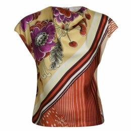 CHLOE Floral Stripe Blouse