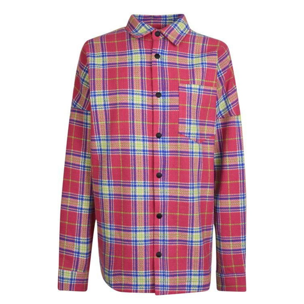 PALM ANGELS Tartan Oversized Shirt