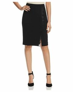 T Tahari Lace Trim Pencil Skirt