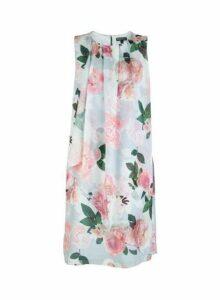 Womens **Billie & Blossom Grey Floral Print Trapeze Dress- Grey, Grey