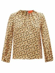 Muzungu Sisters - San Pedro Embroidered Cotton Blend Dress - Womens - Red Multi