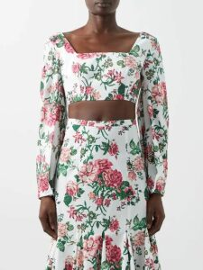 Muzungu Sisters - Marigold Embroidered Cotton Blend Dress - Womens - Yellow Multi