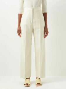 Lisa Marie Fernandez - Tiered High Rise Striped Satin Midi Skirt - Womens - Black White