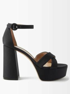 Lisa Marie Fernandez - Rosie Off The Shoulder Striped Satin Maxi Dress - Womens - Black White