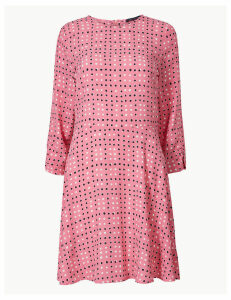 M&S Collection Polka Dot 3/4 Sleeve Fit & Flare Mini Dress