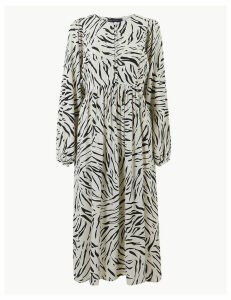 M&S Collection Animal Print Relaxed Midi Dress