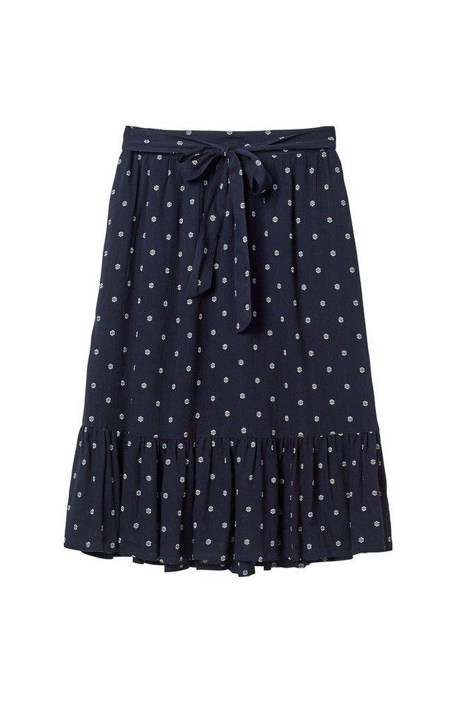 Womens FatFace Blue Lauren Textured Skirt -  Blue